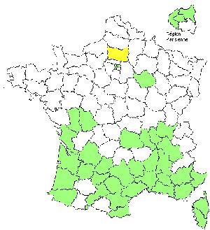carte de répartition