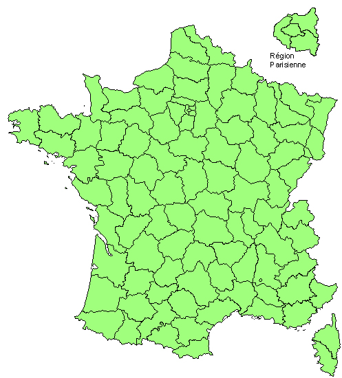 carte de répartition
